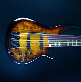 Ibanez SRAS7-DEB SRA Bass Workshop Series 7-String Fretted/Fretless Hybrid Bass Dragon Eye Burst ギター