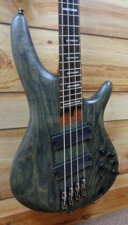 New Ibanez SRFF800 Multi Scale 4 String Electric Bass Black Stained w/Gigbag ギター