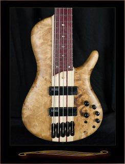 Ibanez SRSC805NTF Single-Cutaway 5-String Bass Natural Flat ギター