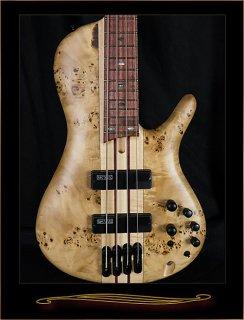 Ibanez SRSC800NTF Single Cutaway 4-String Bass Natural Flat ギター