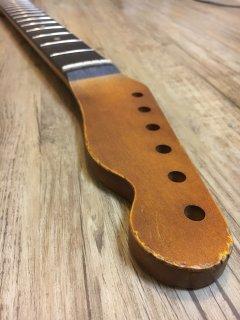 未使用 ALLPARTS製Fenderフェンダーテレキャスター 9.5 FAT C ダークレリック加工 ローズウッドヴィンテージ ギターネック