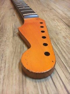 未使用 ALLPARTS製Fenderフェンダーストラトキャスター 9.5 FAT C レリック加工 ローズウッド ヴィンテージ ギターネック