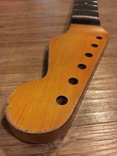 未使用 ALLPARTS製Fenderフェンダーストラトキャスター FAT NOS 9.5 Cレリック加工 ローズウッド ヴィンテージ ギターネック