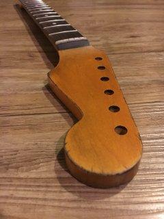 未使用 ALLPARTS製Fenderフェンダーストラトキャスター 9.5 C ダークレリック加工 ローズウッド ヴィンテージ ギターネック