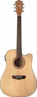 Washburn WD7SCE Harvest Series Solid Sitka Spruce/Mahogany Cutaway Acoustic-Electric Guitar ギター