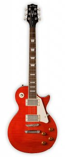 Jay Turser JT-220D-TR 220D Series Single Cutaway 6-String Electric Guitar - Trans Red ギター