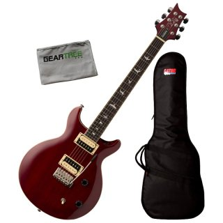 PRS SE Santana Vintage Cherry Standard Electric Guitar w/ Bag and Cloth ギター
