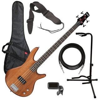 Ibanez GSR100EX 4-String Bass Guitar - Mahogany Oil BASS ESSENTIALS BUNDLE ギター
