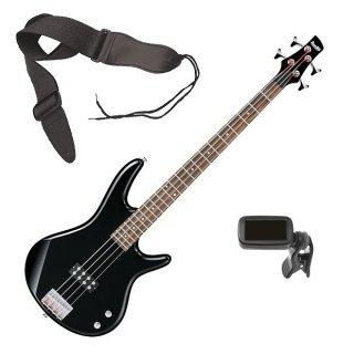 Ibanez GSR100EX 4-String Bass Guitar - Black BONUS PAK ギター