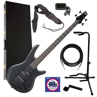 Ibanez GSR200B 4-String Bass Guitar - Weathered Black COMPLETE BASS BUNDLE ギター