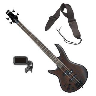 Ibanez GSR200BL Left-Handed Bass Guitar - Walnut Flat BONUS PAK ギター