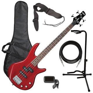 Ibanez GSRM20 miKro Bass Guitar - Transparent Red BASS ESSENTIALS BUNDLE ギター
