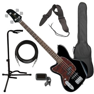 Ibanez TMB100 Left-Handed Talman Bass - Black BASS ESSENTIALS BUNDLE ギター