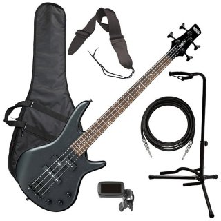 Ibanez GSRM20B miKro Bass Guitar - Weathered Black BASS ESSENTIALS BUNDLE ギター
