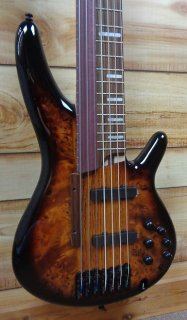 New Ibanez SRAS7 7String Fretted/Fretless Hybrid Electric Bass Dragon Eye Burst w/Case ギター