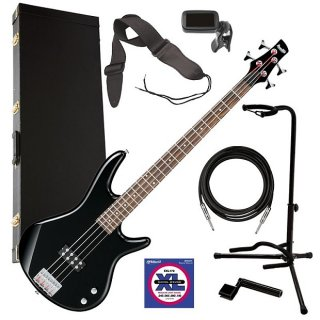 Ibanez GSR100EX 4-String Bass Guitar - Black COMPLETE BASS BUNDLE ギター