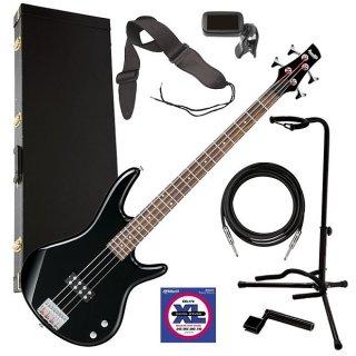 Ibanez GSR100EX 4-String Bass Guitar - Black COMPLETE BASS BUNDLE ギター