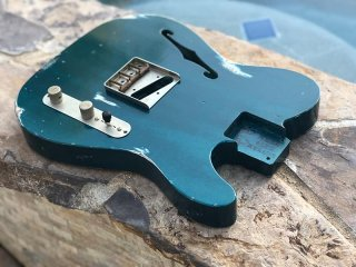 Real Life Relics Esquire Body F Hole  Aged Ocean Turquoise Nitro Lacquer Finish 送料無料