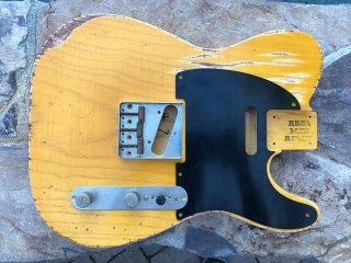 Real Life Relics Custom Tele Telecaster Body Aged Butterscotch Blond Nitro Lacquer Finish #1 送料無料