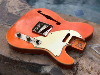 Real Life Relics Tele Telecaster Body F Hole Double Bound Aged Candy Tangerine Nitro Lacquer 送料無料
