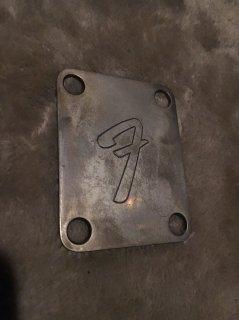 "Fenderフェンダー純正 Neck Plate ""F""strat tele 0991448100 chrome Relic 送料無料"