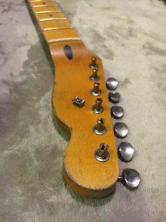 未使用 ALLPARTS製Fenderフェンダーテレキャスター 22 XJ ペグ付レリック加工 メイプル ヴィンテージ ギターネック