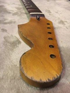 未使用 ALLPARTS製Fenderフェンダーストラトキャスター CBS 7.25C レリック加工 メイプル ヴィンテージ ギターネック