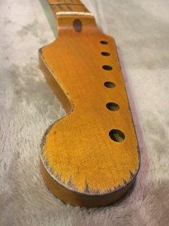 未使用 ALLPARTS製Fenderフェンダーストラトキャスター 9.5C レリック加工 メイプル ヴィンテージ ギターネック