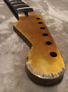 未使用 WD MUSIC製FenderフェンダーLicストラトキャスター 10C レリック加工 ローズウッド ヴィンテージ ギターネック