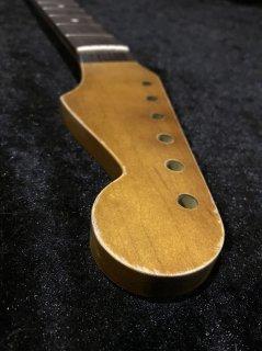 ALLPARTS製Fenderフェンダーストラトキャスター9.5C22 XJ  レリック加工 ローズウッド ヴィンテージ ギターネック
