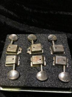 Kluson クルーソンAged Nickel double Lineダブルライン Tuning Machines KD-6B-NMDRレリック加工ペグ送料無料
