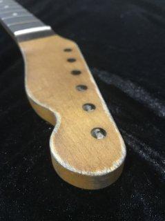 ALLPARTS製Fenderフェンダーテレキャスター 9.5FATC レリック加工 ローズウッド ヴィンテージ ギターネック