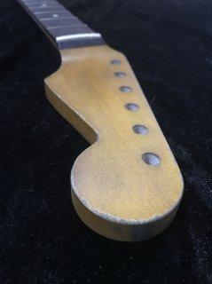 ALLPARTS製Fenderフェンダーストラトキャスター 22 XJ9.5C レリック加工 ローズウッド ヴィンテージ ギターネック
