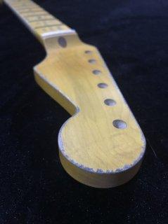 ALLPARTS製Fenderフェンダーストラトキャスター 9.5FAT Cレリック加工 メイプル ヴィンテージ ギターネック