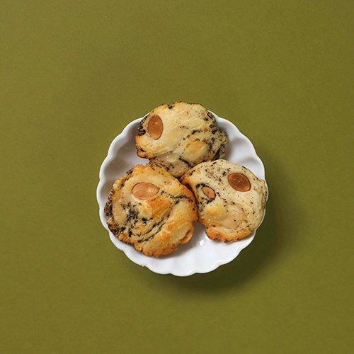 無農薬ほうじ茶と無添加アーモンドのおかき - Hoji-Cha & Natural Almond OKAKI  - Gluten Free OKAKI Cracker
