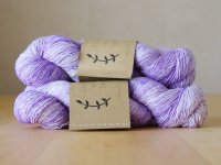 【Lichen and Lace】<br>1ply Superwash Merino Fingering<br>amethyst