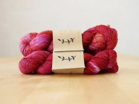 【Lichen and Lace】<br>1ply Superwash Merino Fingering<br>sunburnt lobster