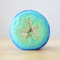 【Jolly knits】<br>Gradient Yarn Merino 3PLY(1000m)<br>PEACOCK