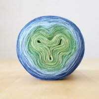 【Jolly knits】<br>Gradient Yarn Merino 3PLY(1000m)<br>BLUE HORTENSIA