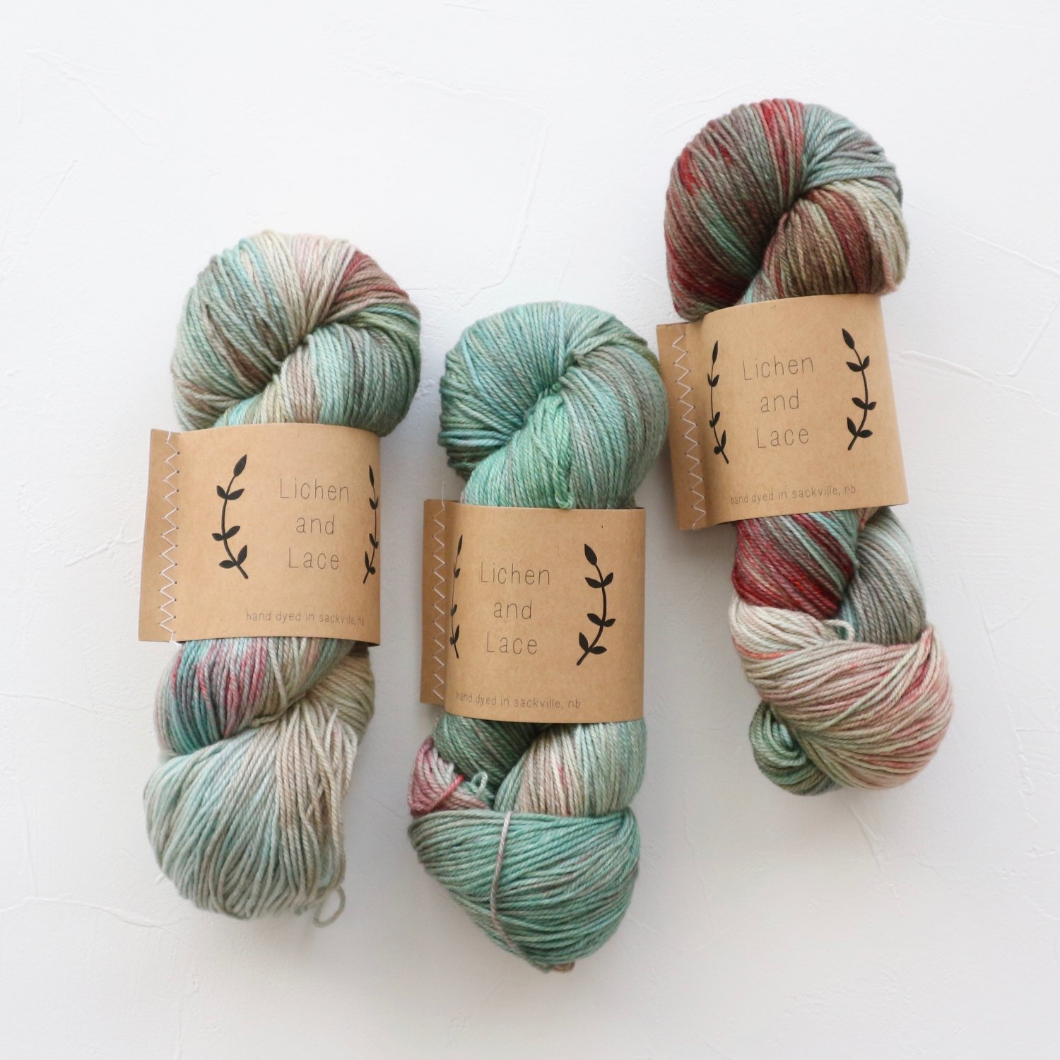 【Lichen and Lace】<br>80/20 Sock<br>sea grass