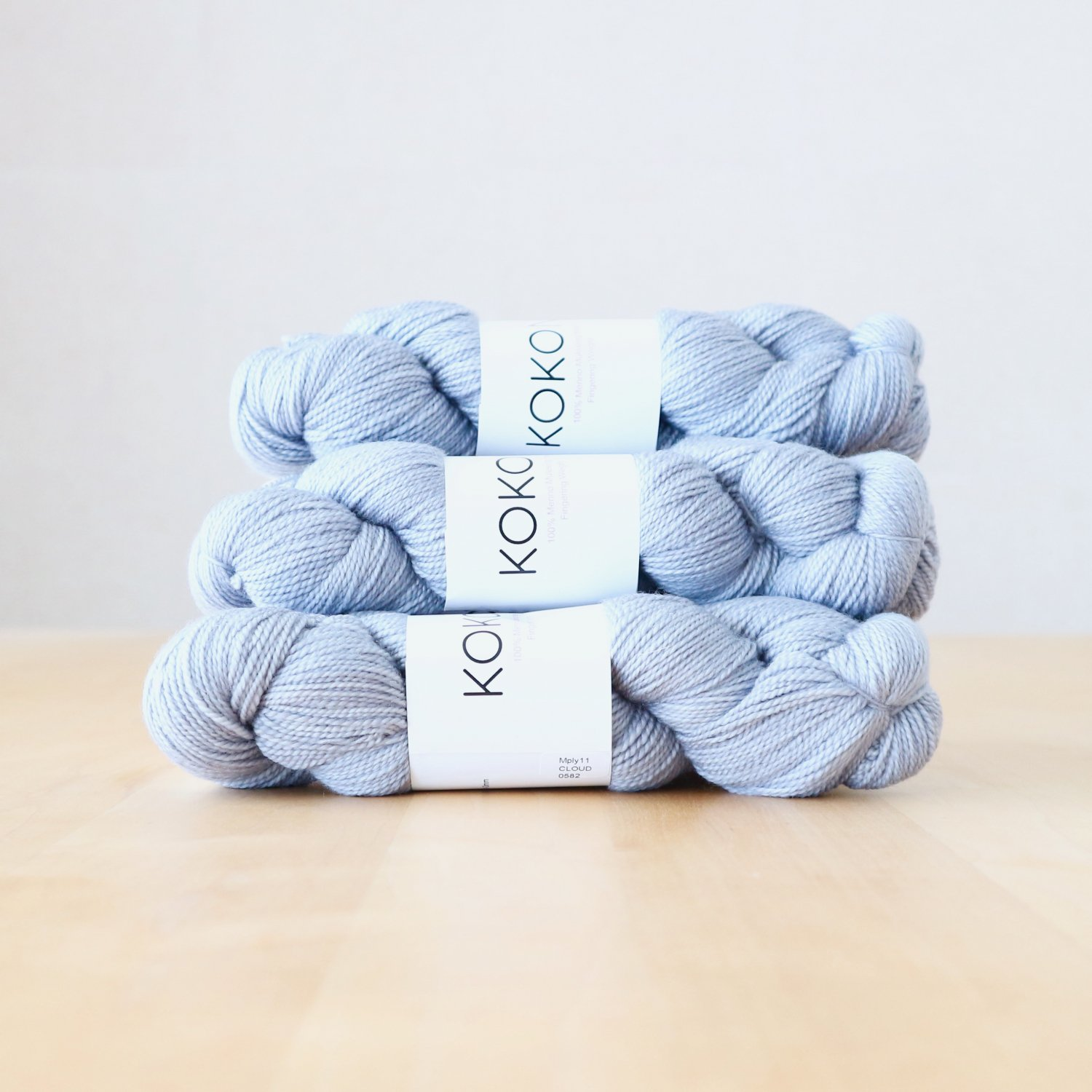 【KOKON yarn】<br>Fingering Merino<br>Cloud