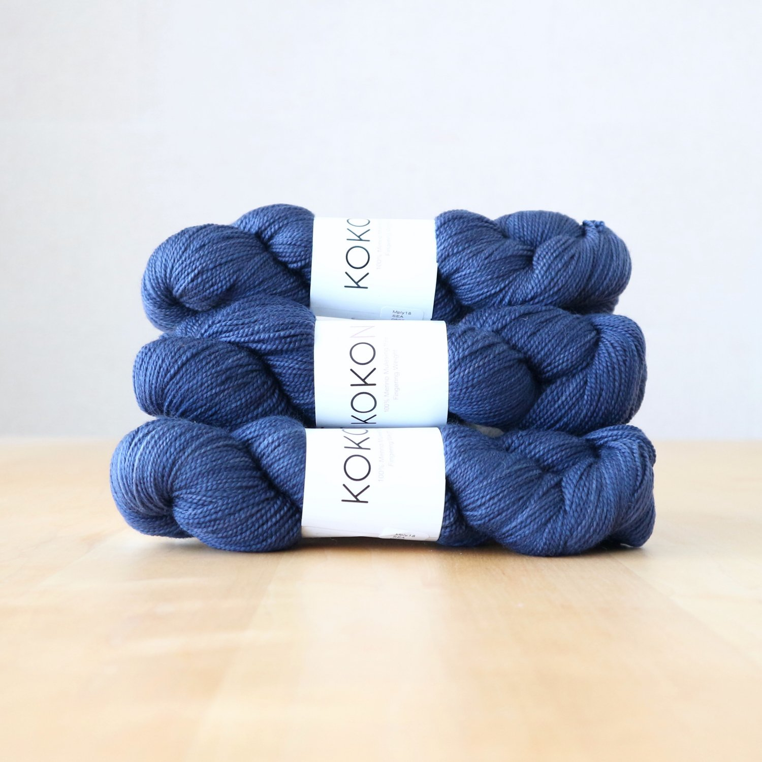 【KOKON yarn】<br>Fingering Merino<br>Sea