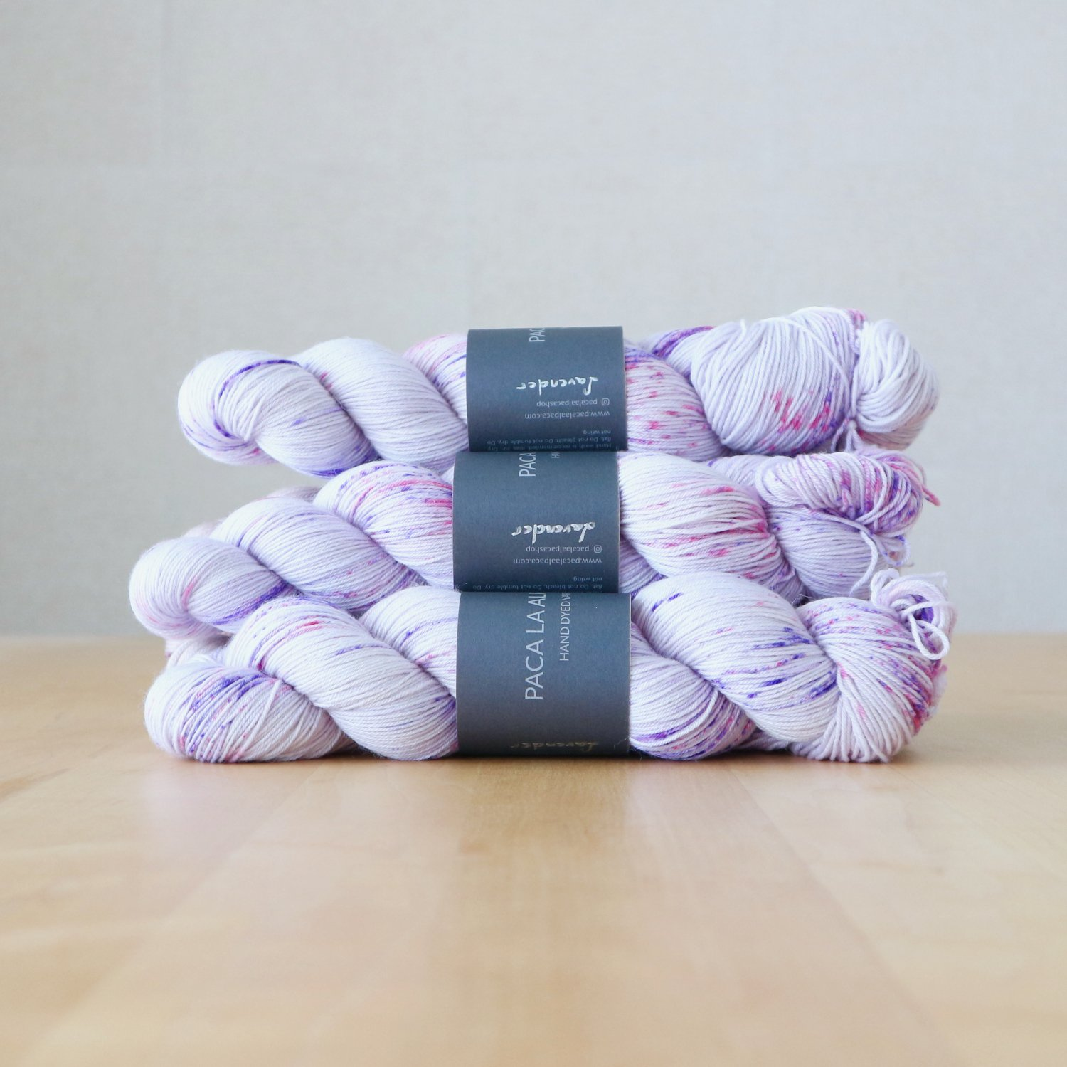 【Paca La Alpaca】<br>Superwash Merino Sock 4Ply<br>Lavender