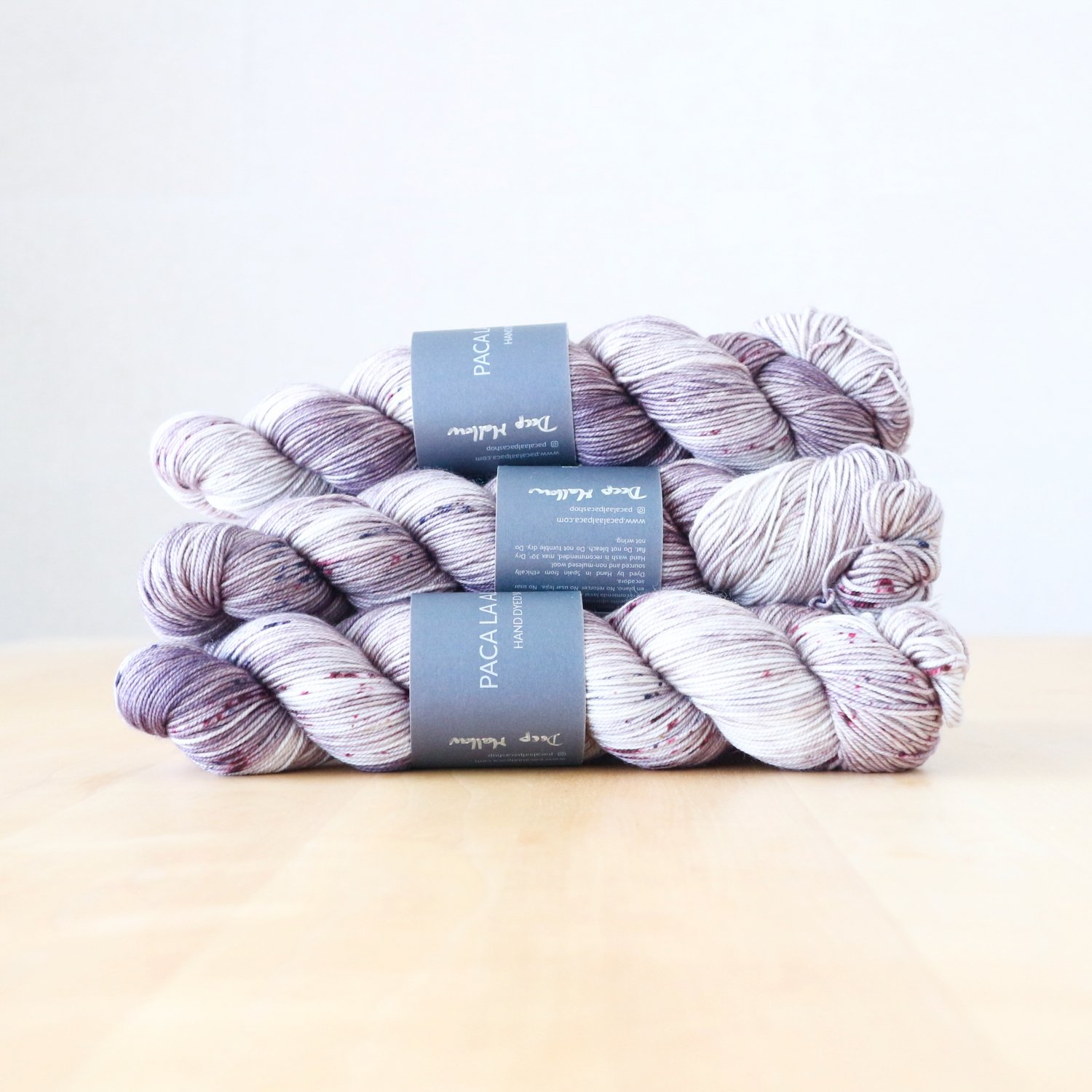 【Paca La Alpaca】<br>Superwash Merino Sport<br>Deep Mallow