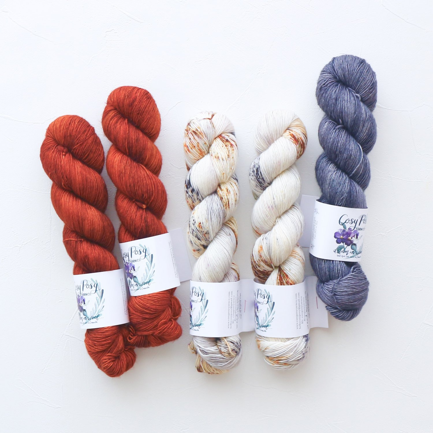 【「Ember Sweater」色合わせセット】<br>Cosy Posy Yarn CLOUD<br>Ember Aセット(長袖 S/Mサイズ)