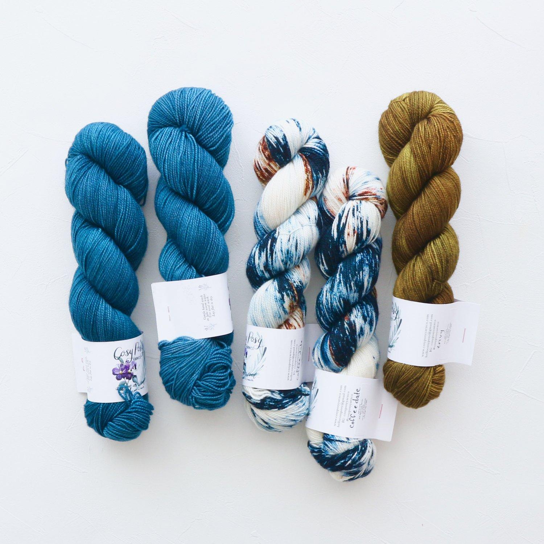 【「Ember Sweater」色合わせセット】<br>Cosy Posy Yarn SOFT & COSY<br>Lセット(長袖 S/Mサイズ)