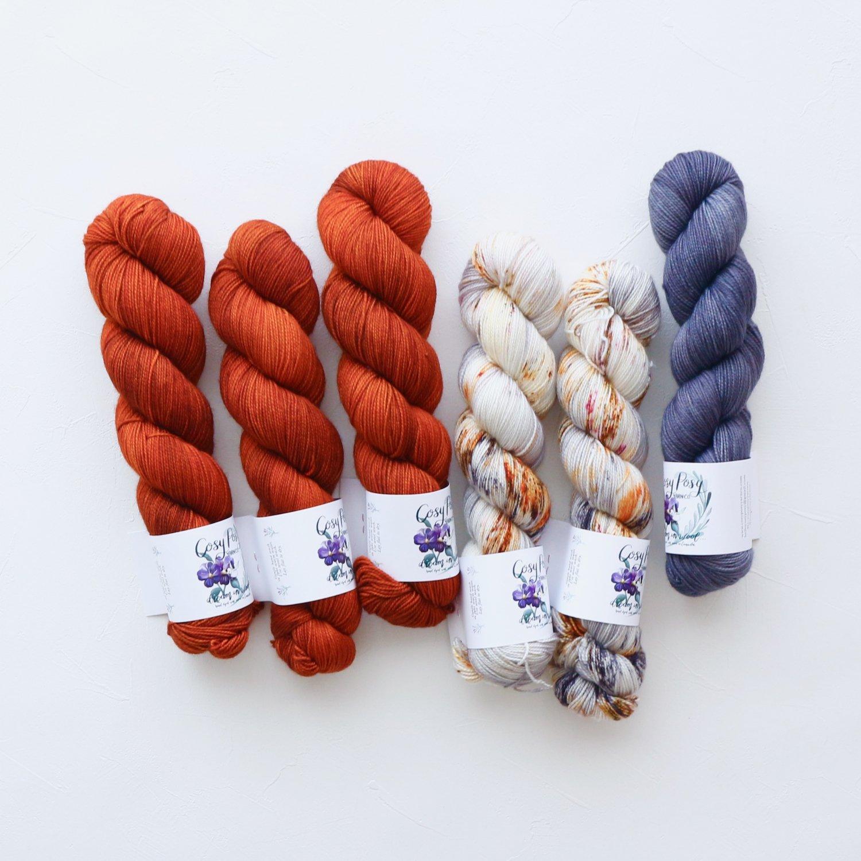 【「Ember Sweater」色合わせセット】<br>Cosy Posy Yarn SOFT & COSY<br>Ember Hセット(長袖 L/XLサイズ)