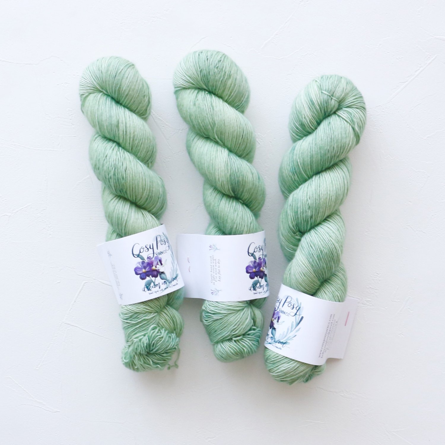 【Cosy Posy Yarn】<br>CLOUD<br>Luna Moth(No speckles)
