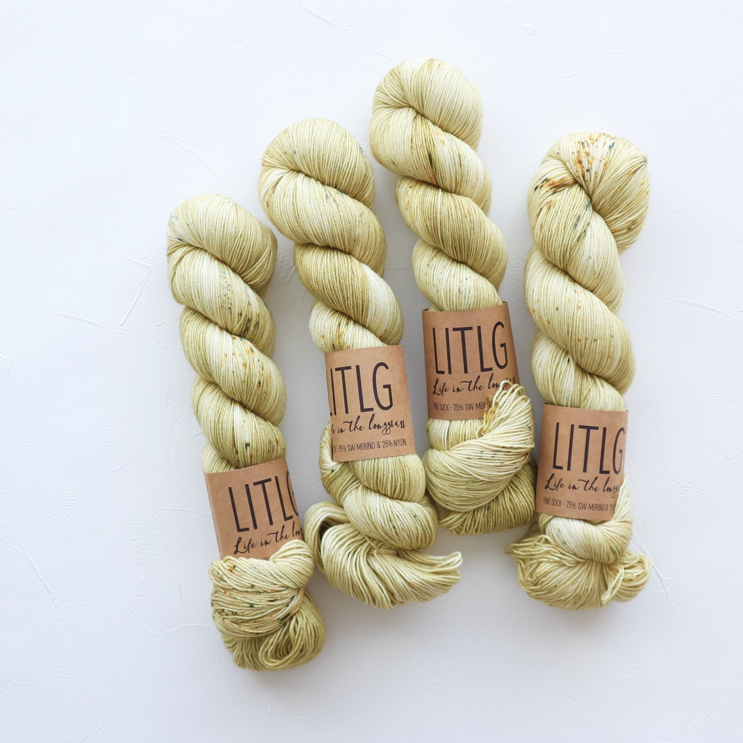 【LIFE IN THE LONGGRASS】<br>Fine Sock<br>Flax