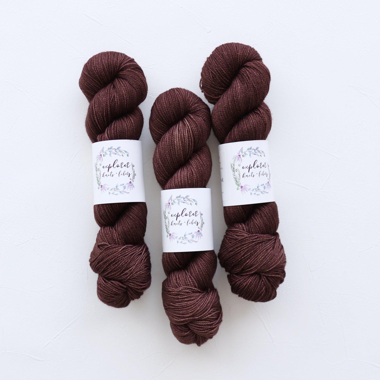 【Explorer Knits + Fibers】<br>Rockies Sock<br>MULLED WINE
